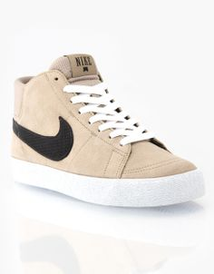 huge selection of 196f6 6b648 Nike Skateboarding Blazer Mid LR Skate Shoes - Khaki Black White.