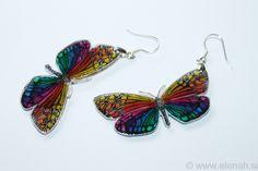 365 day project Butterfly ♥ DAY 342 ♥ Butterfly shrink plastic earrings.