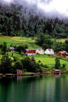 In Hardangerfjorden, Norway.