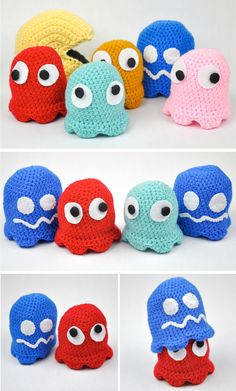 Free Crochet Pattern   Amigurumi Pac-Man and Ghosts by Penolopy Bulnick  http   a423e149e2