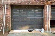 Garage Door Paint Ideas Painting Our Doors A Richer Deeper Color Young House Love Doors, House Exterior, Door Makeover, Painted Doors, Garage Doors, Garage Door Design, Garage Door Paint, Garage Door Colors, Garage Door Types