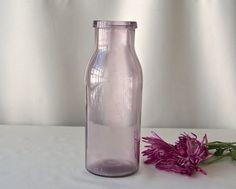 Vintage Purple Glass Milk Bottle Sun Purple by CynthiasAttic
