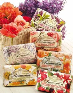 Nesti Dante Italian Romantica Soaps.  Luxurious, handcrafted soaps inspired by the beautiful region of Florence - made with enchanting perfumes from the hills of Tuscany. $10  #natural #italian #soap #organic www.theitaliandish.com