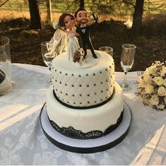 Your place to buy and sell all things handmade Wedding Desserts, Wedding Cakes, Wedding Decorations, Married In Vegas, Personalized Wedding Cake Toppers, Engagement Cakes, Wedding Keepsakes, Wedding Couples, Wedding Dress