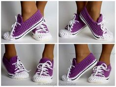 Sneaker slippers!!! Free pattern.   https://attachment.fbsbx.com/file_download.php?id=483733575141284&eid=ASsbrWqERaUBPs4MbUC5xmfzDAzNL1IRtpWOuGZ69vsvIEv3huxLcukTS6UO5Thv6QE&ext=1448427052&hash=ASsavcZ0eFYVzG24