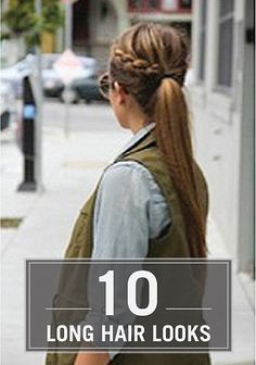 Spice up your ponytail style with a side braid.