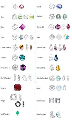 Actual bead size chart rosary bracelet rosary makers guide swarovski shapes chart keyboard keysfo Images