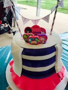 Doc McStuffins cake with birthday candles