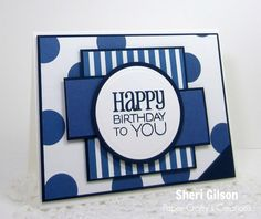 Masculine birthday card blue cards pinterest masculine male card handmade birthday card by sheri gilson using the birthday to you plain jane from verve bookmarktalkfo Gallery