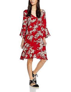 10 (Manufacturer Size:40), Red (Deep Red), Moves Women's Era Dress NEW