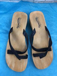 fc987e87010b Skechers Something Else Sandals Mules Blue Denim Look Women s