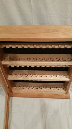 Pipe cabinet solid cherry and maple holds 36 pipes tobacco
