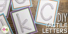 FREE list: 200+ Materials for Preschool Letter Activities and Collages - Early Learning Ideas Alphabet Words, Alphabet Tracing, Teaching The Alphabet, Art Activities For Kids, Alphabet Activities, Preschool Activities, Preschool Routine, Handwriting Activities, Motor Activities