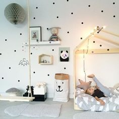 Colored Polka Dots Wall Stickers For Kids Room Wall Decor Colorful Nursery Dots Children's Room Wall Art Modern Baby's Room Decor Baby Bedroom, Baby Boy Rooms, Kids Bedroom, Room Baby, Bedroom Ideas, Bedroom Decor, Modern Bedroom, Polka Dot Walls, Polka Dots