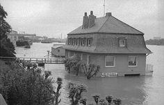 Hochwasser in Wesseling 1993. Stichworte: #Wesseling #Germany #Photography