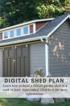 Summer is shed-building season, and not just because the weather is great for working outdoors. Tool Sheds, Shed Plans, Backyard, Outdoor Structures, How To Plan, Digital, Building, Garden, Outdoor Decor