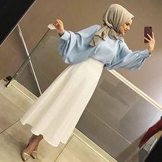Skirt outfits hijab abayas New ideas Skirt outfits hijab abayas New ideas Hijab Outfit, Hijab Style Dress, Modest Fashion Hijab, Modern Hijab Fashion, Hijab Chic, Muslim Fashion, New Hijab Style, Eid Outfits, Skirt Outfits
