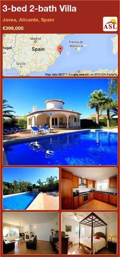 3-bed 2-bath Villa in Javea, Alicante, Spain ►€399,000 #PropertyForSaleInSpain