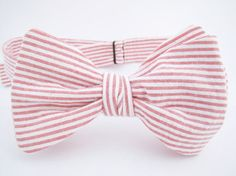 Men's Adjustable Freestyle Bowtie   Coral by ChipmunkPoint on Etsy, $28.00