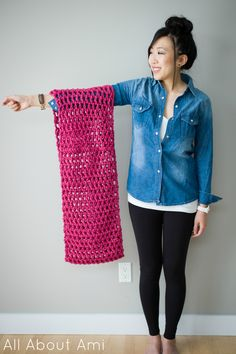 i love this pattern. so cute with a pink or purple. making a scarf with this pattern now!