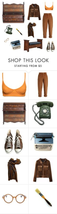 """""""dont tell me what to do"""" by nojawrabbit ❤ liked on Polyvore featuring Miu Miu, Converse, Dries Van Noten, Ellen Tracy, DutchCrafters, yellow, Blue, GREEN and brown"""