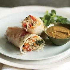 Thai Summer Rolls with Peanut Sauce from Organic Gardening Magazine