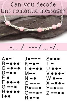 "25 +> How exciting - hidden romantic messages in jewelry! Use the Morse code a - - 25 +> How exciting – hidden romantic messages in jewelry! Use the Morse code a How exciting – hidden romantic messages in jewelry! Use the Morse code a""> Perlen Diy Jewelry Rings, Diy Jewelry Tutorials, Wire Jewelry, Jewelry Crafts, Beaded Jewelry, Jewelery, Jewelry Making, Silver Jewelry, Making Bracelets"