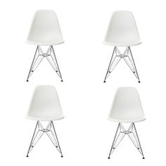 4 X Eames Dsr Chairs Lounge Dining Eiffel Chair Replica