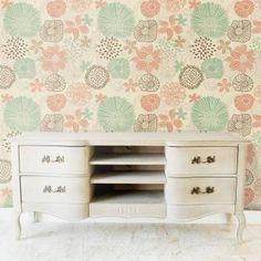 Papel de parede floral delicadas estilizadas 011 | Papeldecor.com.br - Papel de Parede para sua Casa em Oferta é Aqui!
