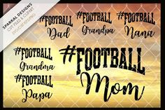 Football Sports Fan Decal files @creativework247