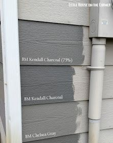 Exterior Paint Colours For House Grey Kendall Charcoal Ideas Exterior Gray Paint, Exterior Paint Colors For House, Paint Colors For Home, Exterior Colors, Exterior Design, Diy Exterior House Painting, Grey Siding, Stucco Exterior, Exterior Shutters