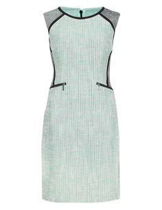 M&S COLLECTION Online Only PETITE Tweed Sleeveless Shift Dress