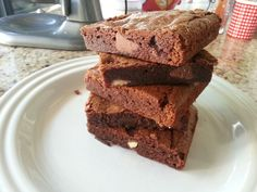 brownies  con trozos de chocolate