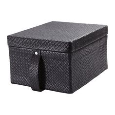 BLADIS Box with lid IKEA Suitable for storing your DVDs, games, chargers, remote controls or desk accessories. Ikea Storage Boxes, Dvd Storage, Container Organization, Office Storage, Bed In Closet, Master Closet, Cubicle Makeover, Ikea Wall, Konmari