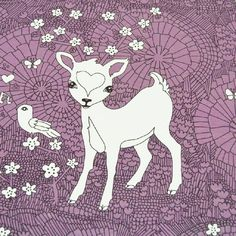 Violet, Bambi, Lilac, Moose Art, Animals, Beautiful, Collection, Organic, Design