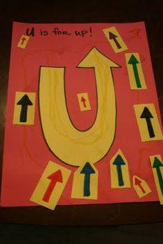 Letter U - up
