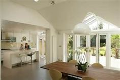 Discover how a light, bright and beautiful Kitchen Extension could transform your living space. House Extensions, Kitchen Extensions, Open Plan Kitchen, Kitchen Ideas, Big Kitchen, Family Kitchen, Kitchen Layout, Kitchen Orangery, 1960s House