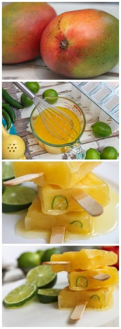 Mango Fruit and Tequila Popsicles with Serrano
