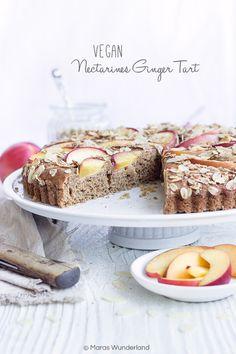 Vegane Nektarinen-Ingwer-Tarte Healthy Cake, Muffin, Low Carb, Gluten Free, Dessert, Cakes, Breakfast, Food, Pie