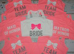 Bridesmaids Tanks 7. Bridesmaids Shirts. Bachelorette Tanks. Wedding Tank Tops. Bridesmaid tanks. Bridal Entourage. bachelorette party [168 for 7, fully customizable]