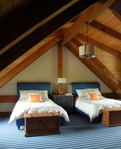 Twin Bedroom In The Attic