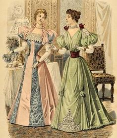 1894. The dress on the right is pretty and I like it. :)