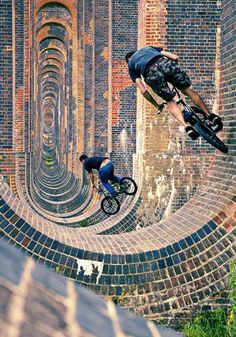 Adventure extreme sports bike ride Stu and Les at Ouse Viaduct in Portsmouth, United Kingdom - photo by mikedeere - Pinkbike Awesome! Aly Raisman, Kitesurfing, Alabama Football, Taekwondo, Sport Bikes, Sport Sport, Motogp, Skateboarding, Mountain Biking