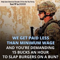 Who needs $15 for putting patties on a bun???? Get a good college education, and get a real job. BUT FOR THOSE OVERSEAS, I RESPECT YOU!!!