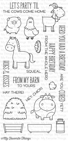 Papercrafts - *NEU My Favorite Things - Clear Stamps The Whole Herd