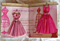 Tissue printed crepe paper dresses