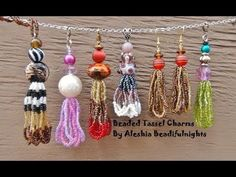 ▶ Beaded Tassel Charm Tutorial - YouTube