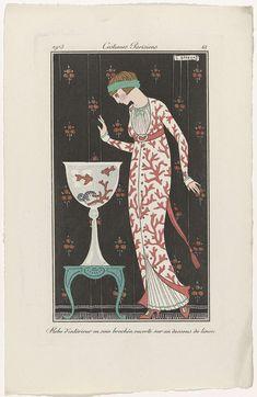 Journal des Dames et des Modes, Costumes Parisiens,  1913, No. 61 : Robe d'intérieur..., anoniem, 1913