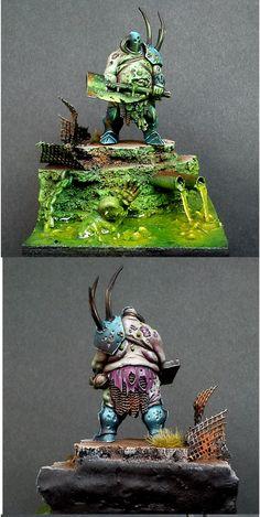 Nurgle Chaos Lord diorama