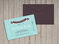 Printable custom birthday invitation por LaVieEnRoseDesigns en Etsy, €9.90